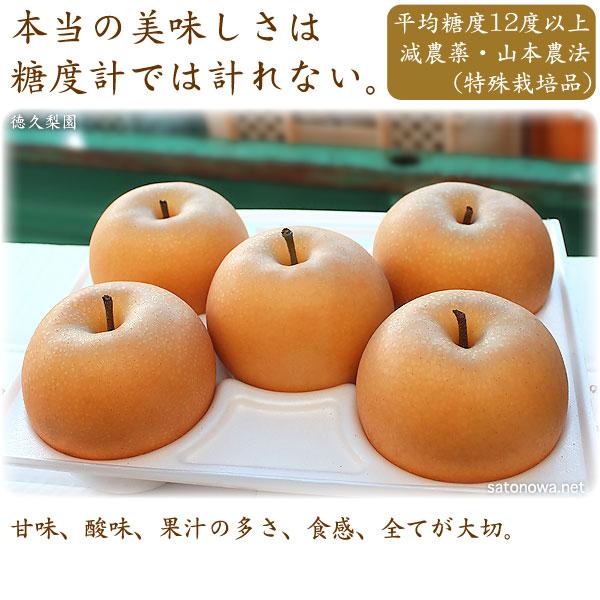 あきづき梨(秋月)の本当の美味しさは、糖度計では計れません。