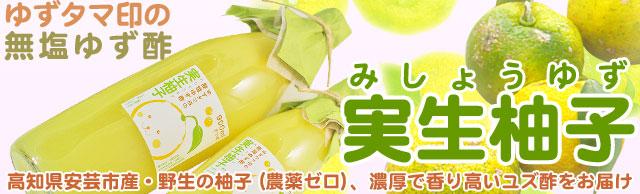 ゆずタマ印の実生柚子(みしょうゆず)・手絞り柚子酢