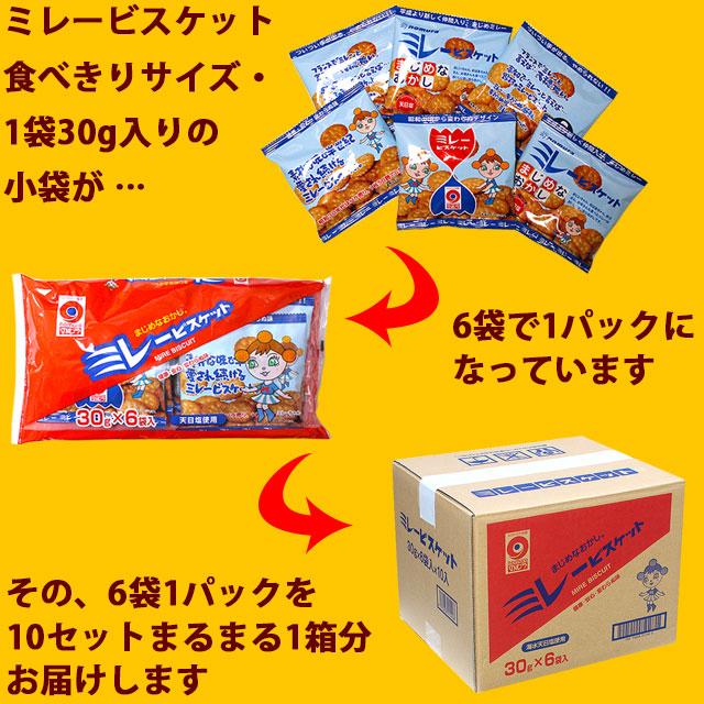 ミレービスケット・食べきりサイズ・30g・6袋×10セット