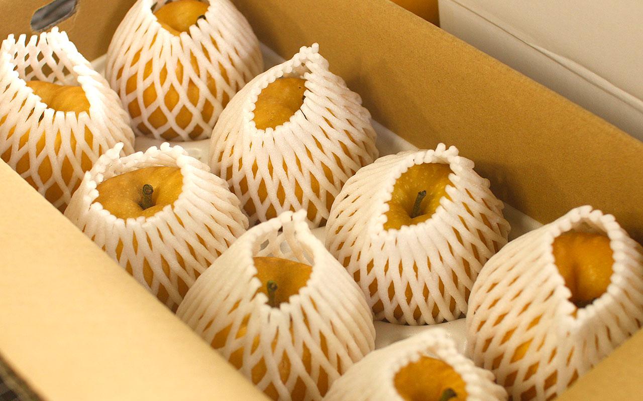 凜夏(りんか)梨・4kg箱の様子