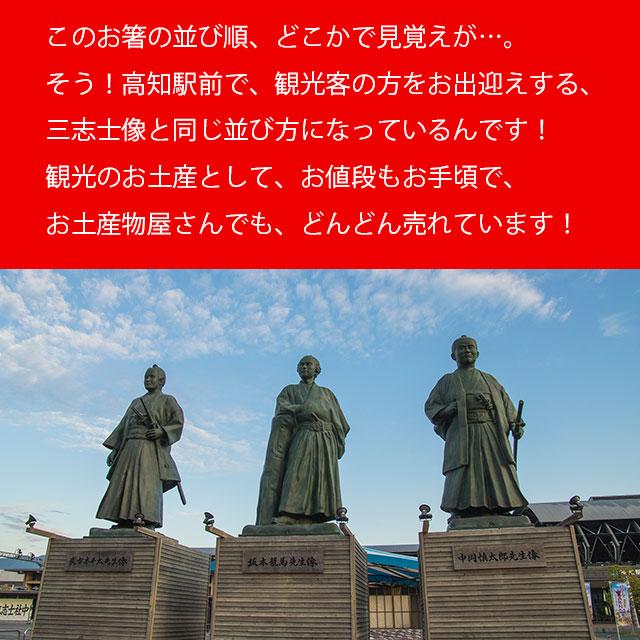 高知駅前の、土佐三志士像と同じ並び!
