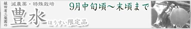 【数量限定】豊水梨(ほうすいなし)