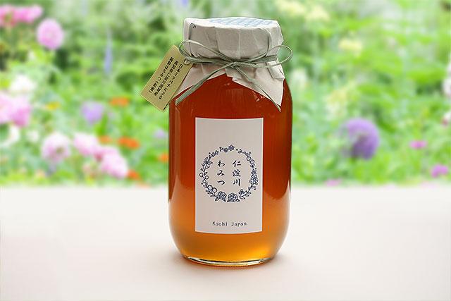 ニホンミツバチの蜂蜜(和蜜)・「仁淀川わみつ」・1200g